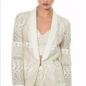 Anthro Dolce Vita Faux Leather Laser Cut Jacket M